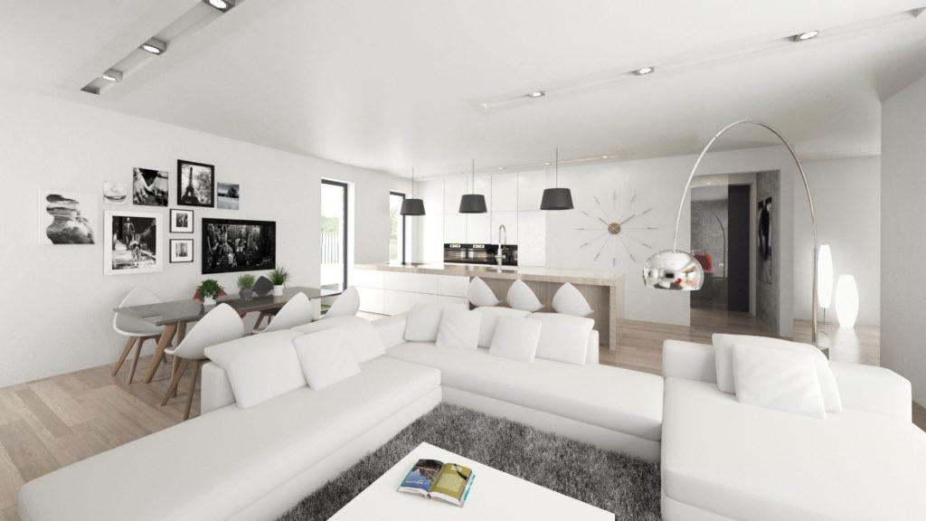 Svetlá moderná obývačka