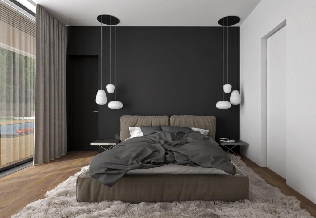 Spálňa- nadčasová so závesnými svietidlami