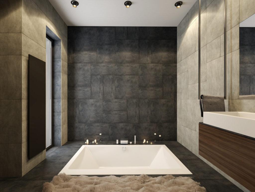 Kúpelňa- zapustená vaňa v podlahe