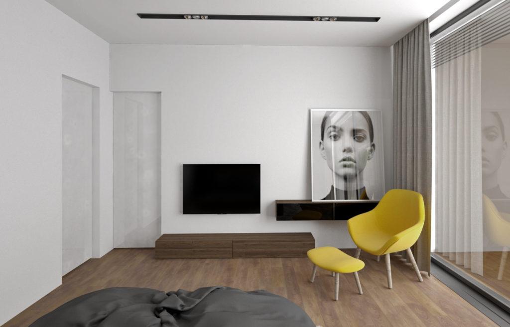 Spálňa- farebný akcent