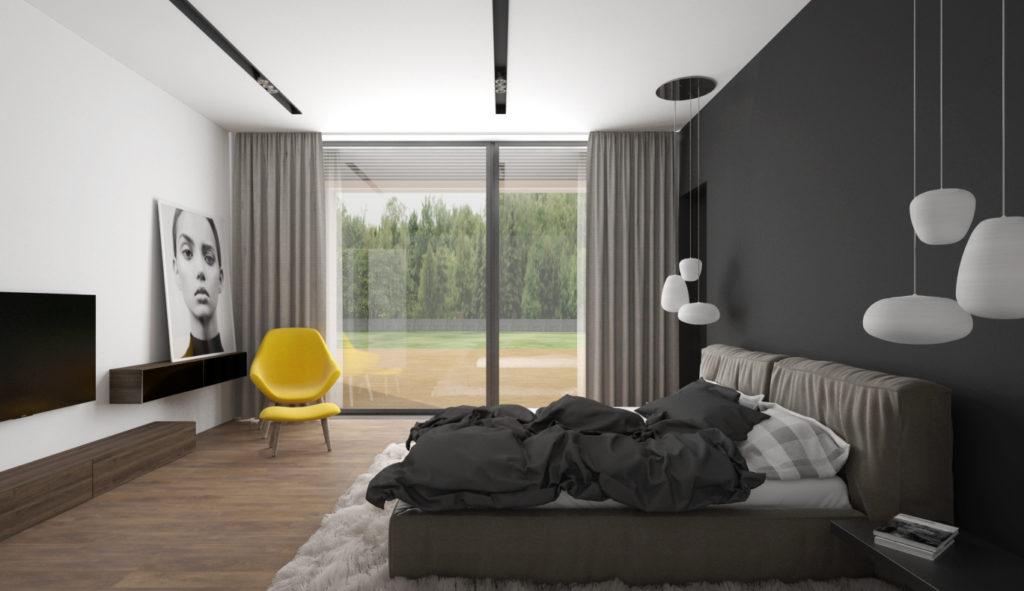 Spálňa- neutrálna s farebným akcentom