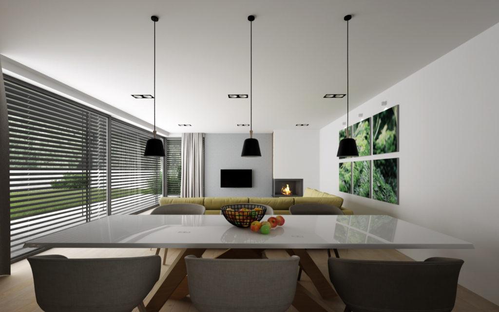 Jedálenský kút s dizajnovým stolom