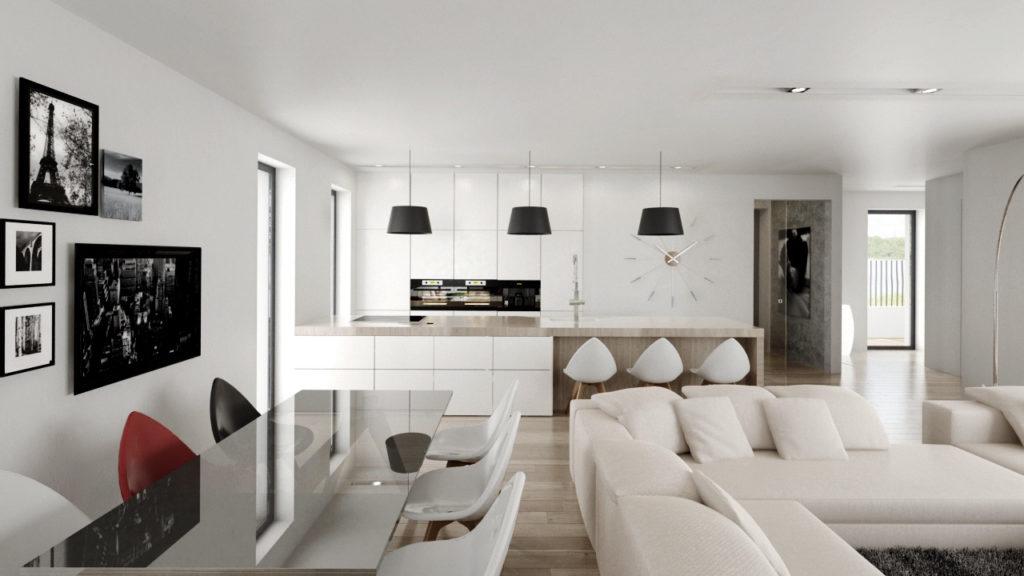 Funkčná dispozícia moderného interiéru