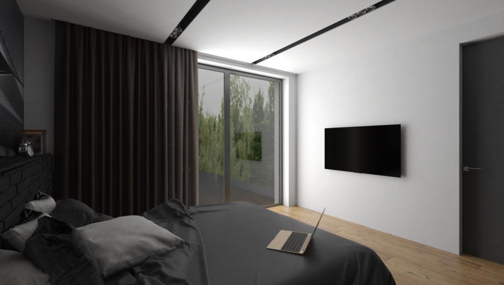 Moderná izba mladého muža