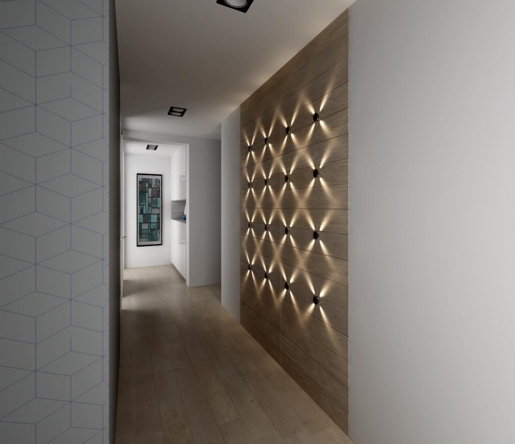 Osvetlenie steny v chodbe