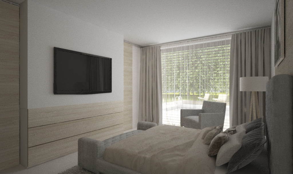 Spálňa- svetlá a útulná