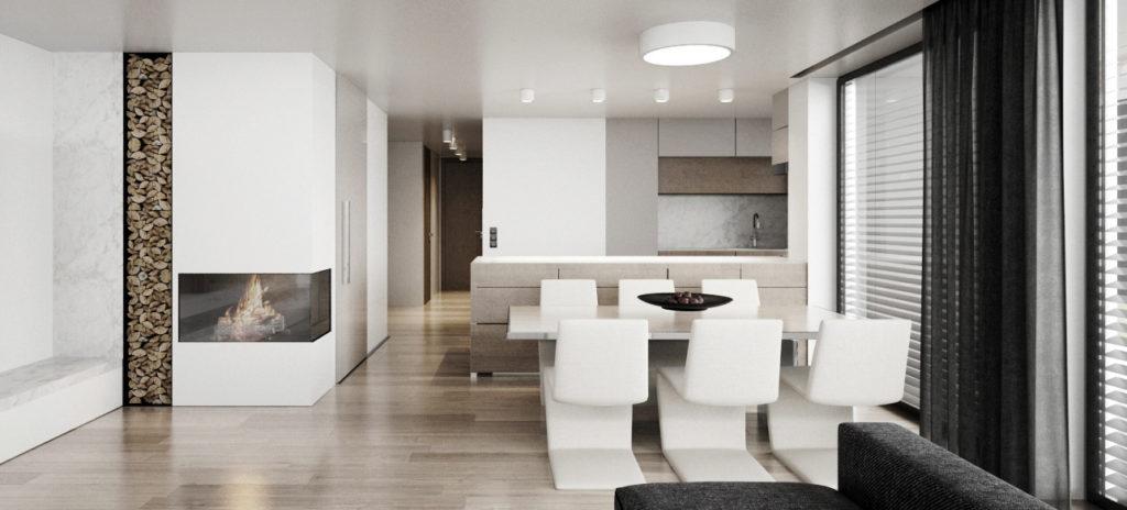 Kuchyňa s modernými jedálenskými stoličkami