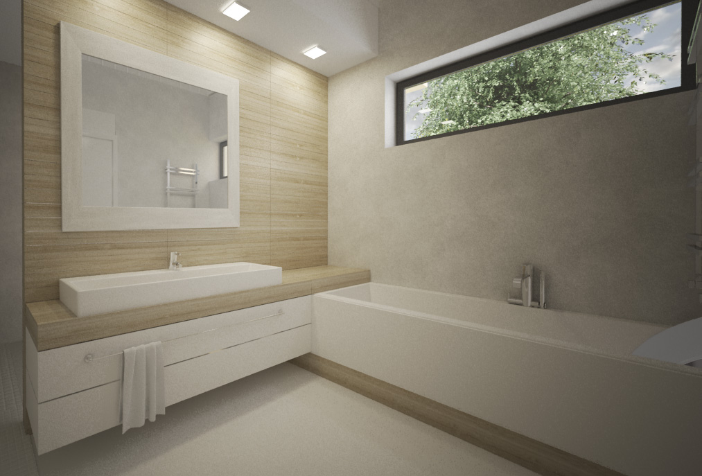 Kúpelňa- biela, drevo, čistota a jednoduchosť