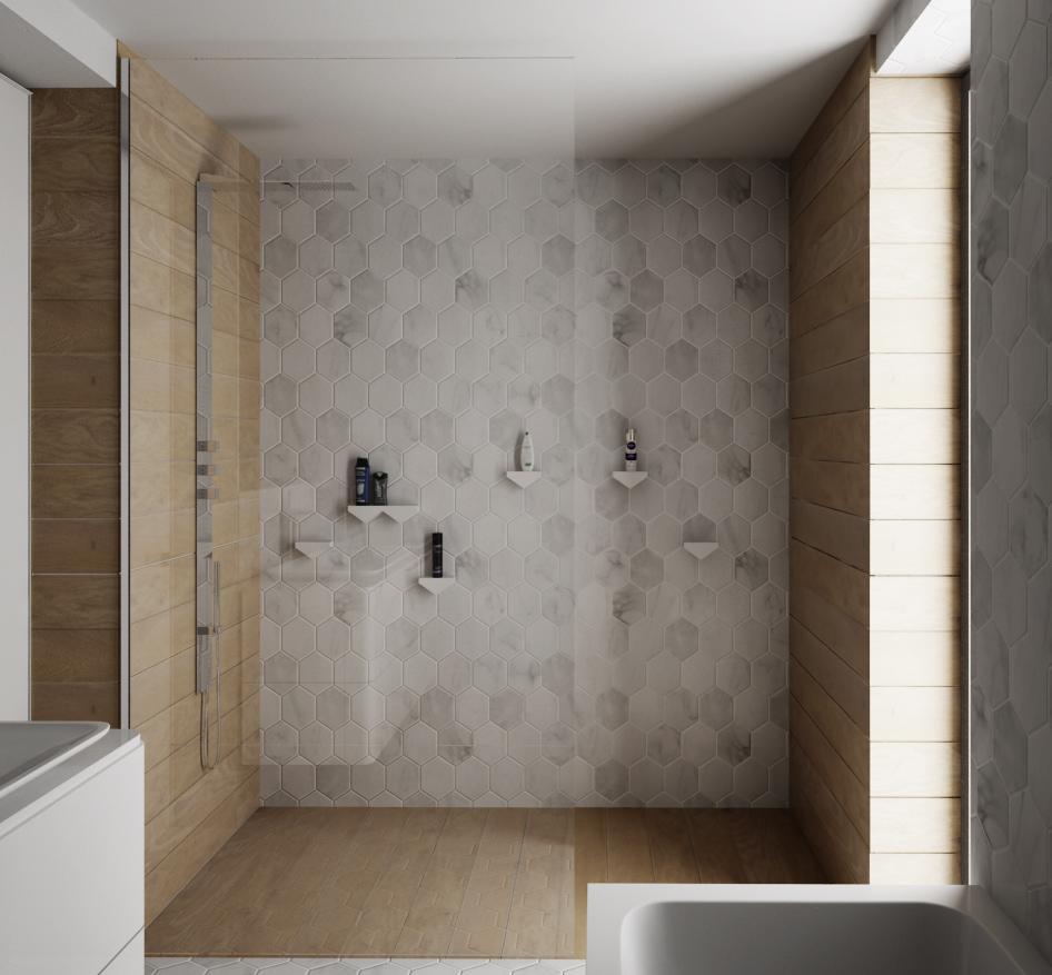 Sprchový kút iba sklo