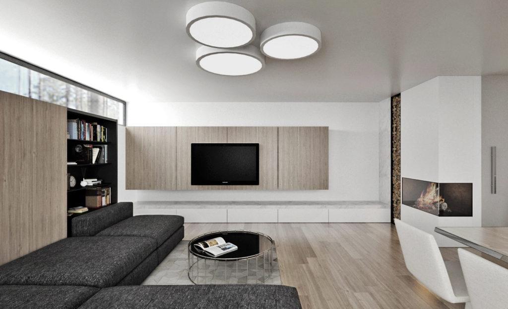 Moderná nadčasová obývačka