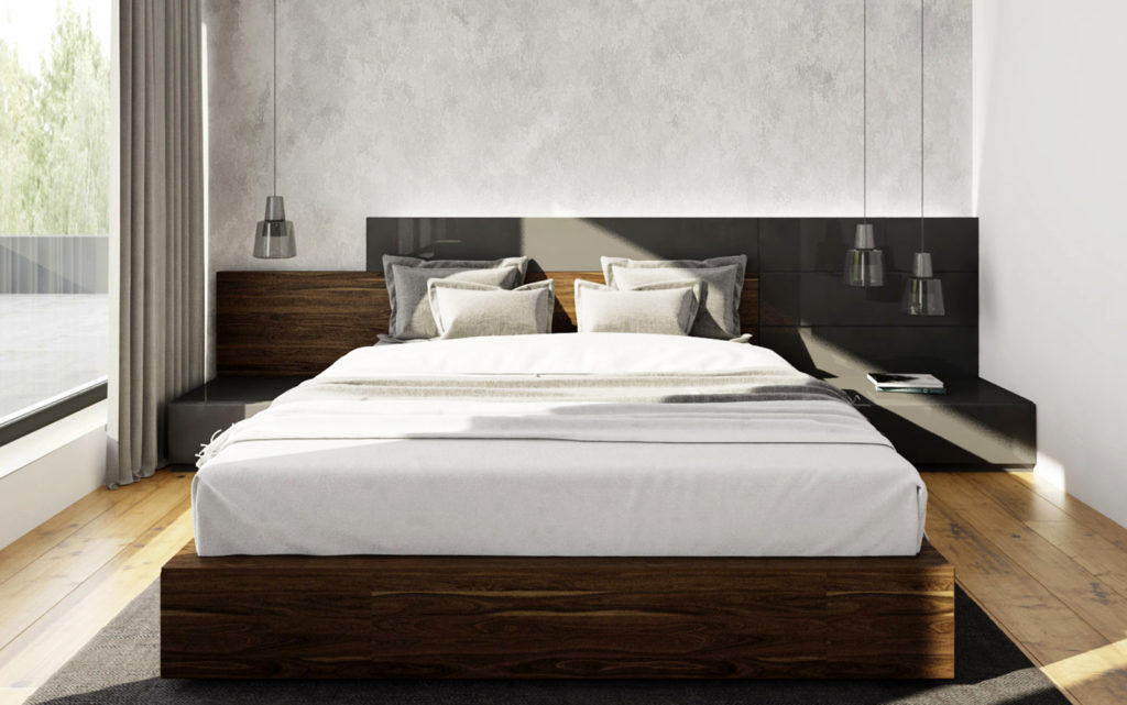 Hosťovská izba- asymetrická posteľ