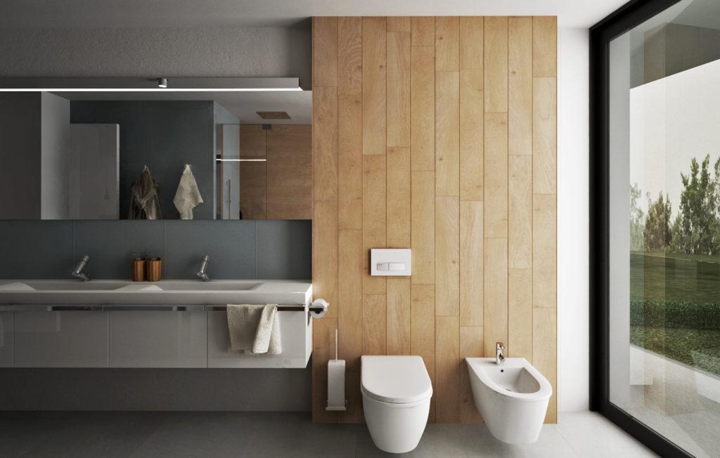 Kúpeľňa na druhom nadzemnom podlaží- WC a bidet