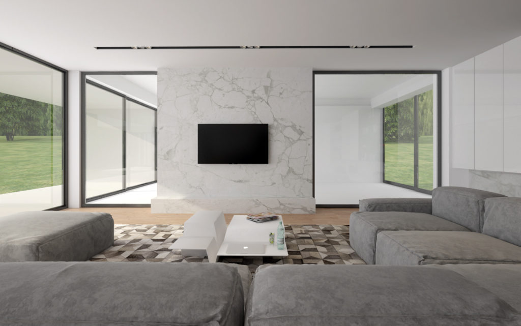 Obývačka- jednoduchá a elegantná