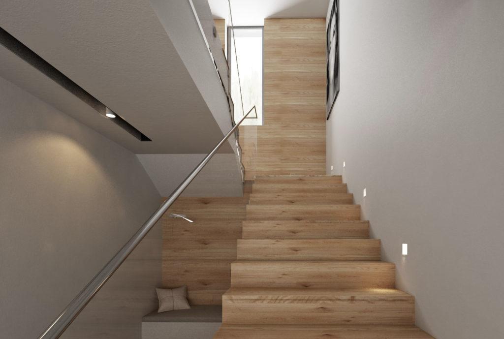 Moderné drevené schodisko