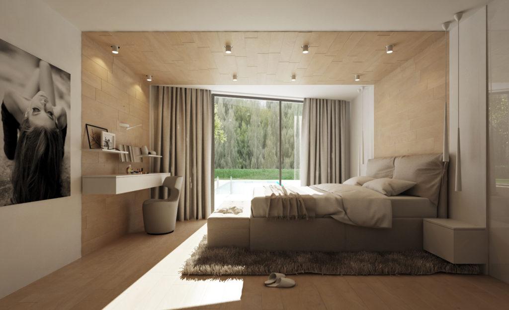 Moderná útulná spálňa