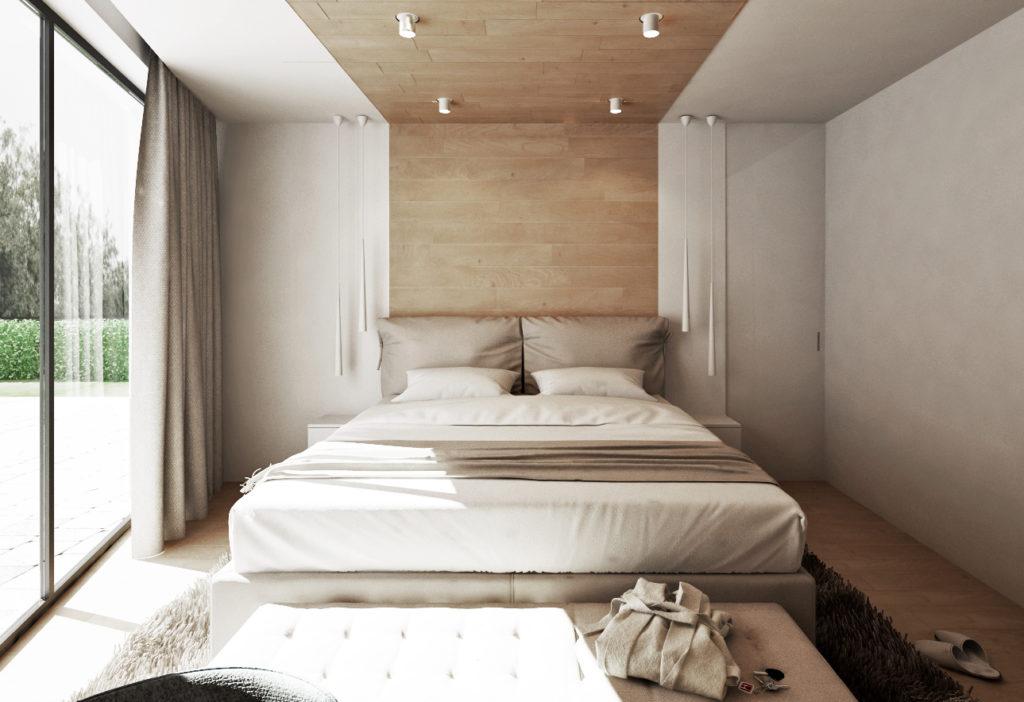 Spálňa- vysoká pohodlná posteľ