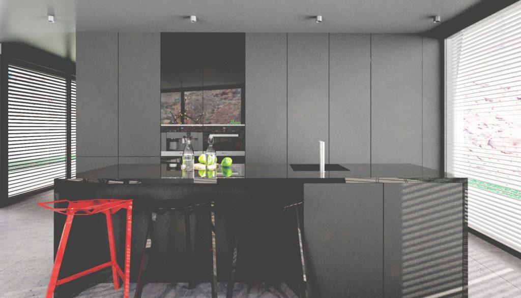 Moderná tmavá kuchyňa