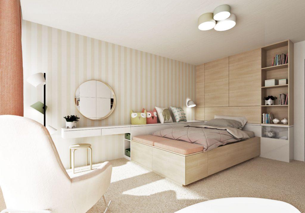 Detská izba v béžových a pastelových tónoch