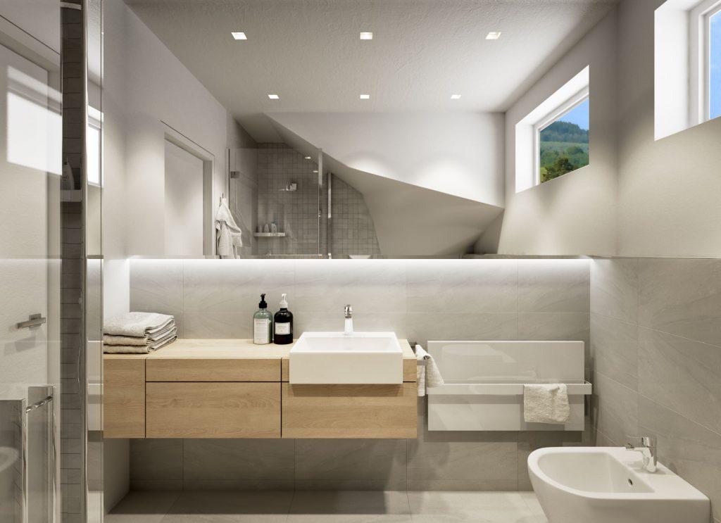 Netradičná kúpelňa pod schodami