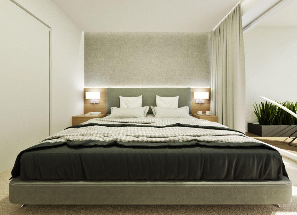 Jednoduché riešenie postele v spálni