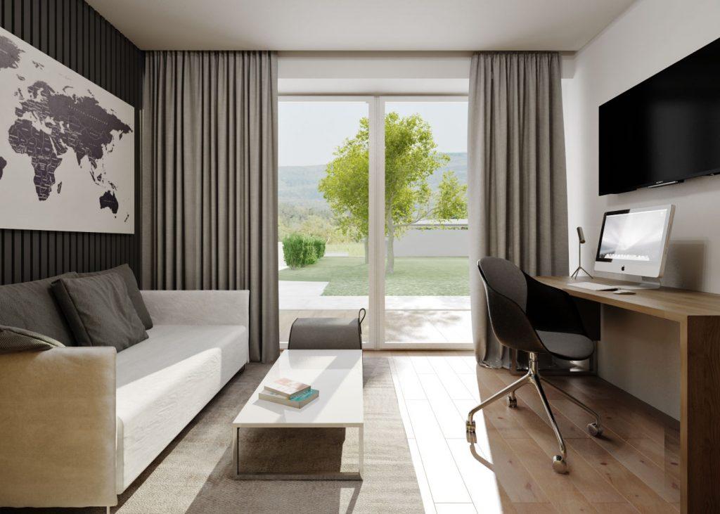 Návrh interiéru domácej pracovne