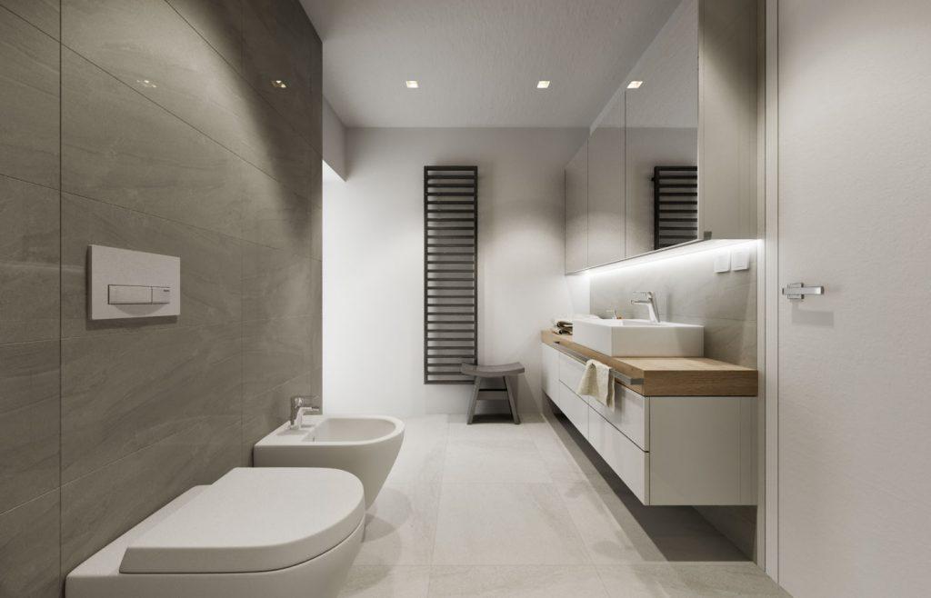 Praktický stolček v interiéri kúpelne