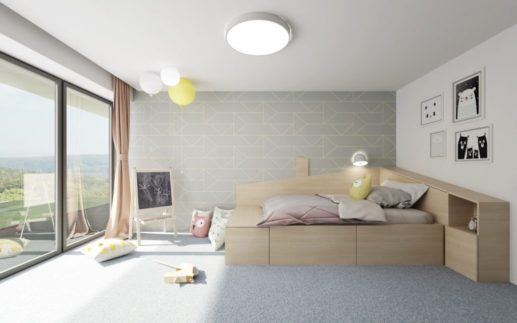 Atypická postel v detskej izbe