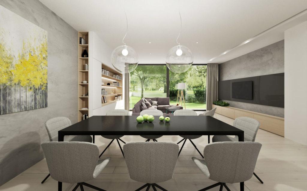 Jedálenský kút- čierny stôl