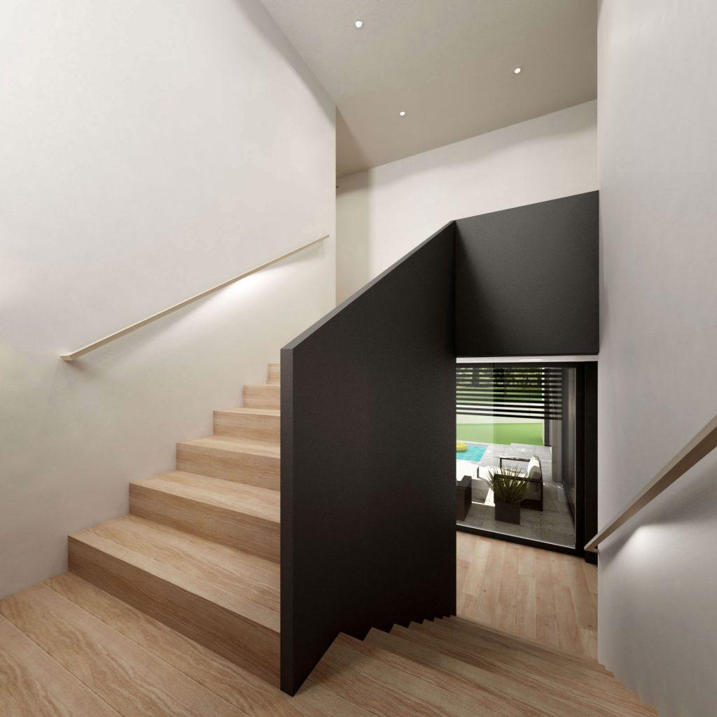 Jednoduché moderné schodisko