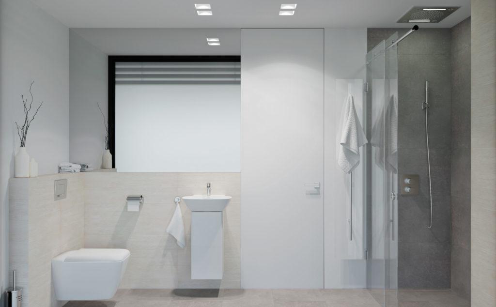 Svetlá kúpelňa- celkový pohľad