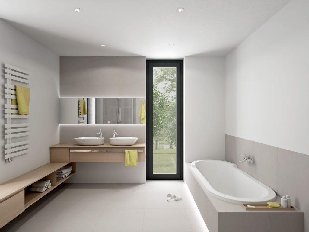 Moderná neutrálna kúpelňa