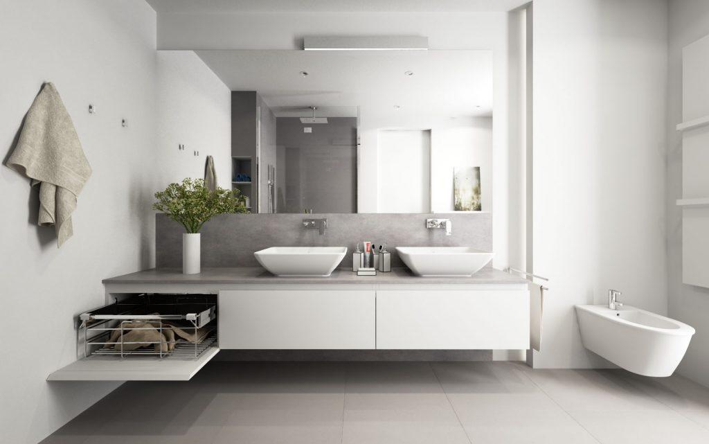 Jemná moderná kúpeľňa
