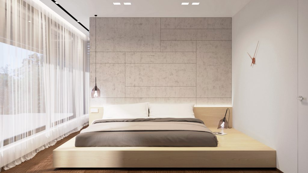 Pódiová postel v ZEN štýle