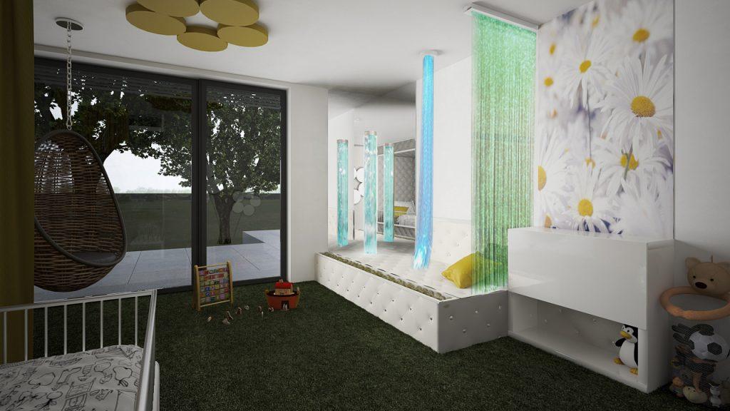 Snoe zeleň izba pre dcérku