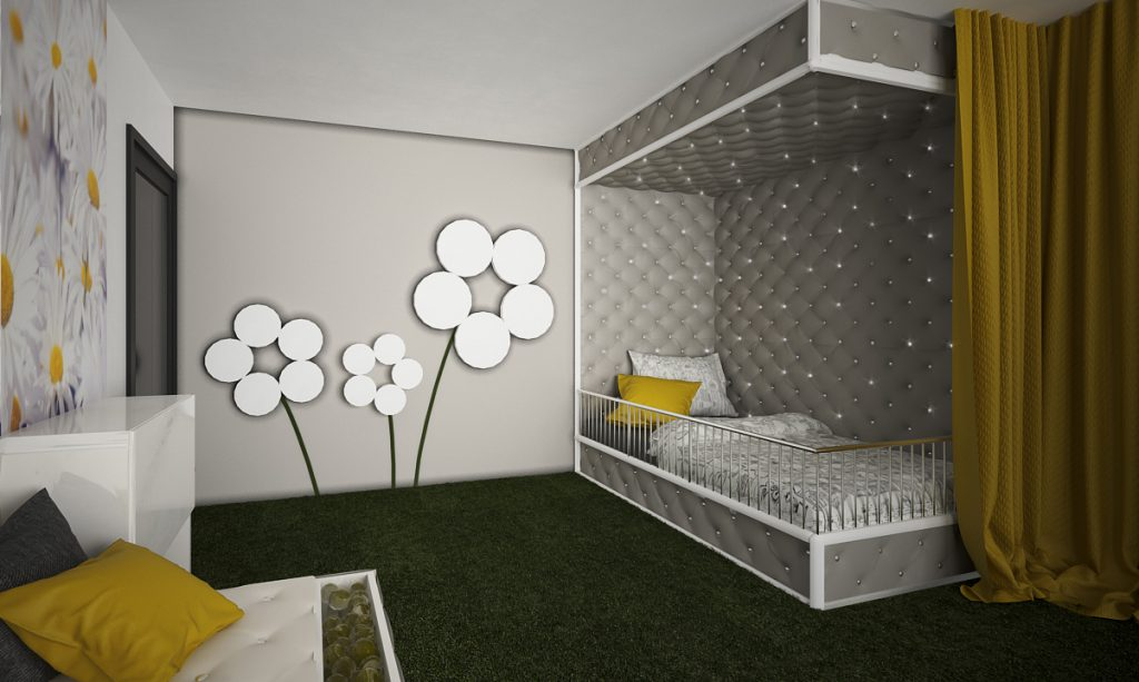 Snoe zeleň izba- čalúnená posteľ