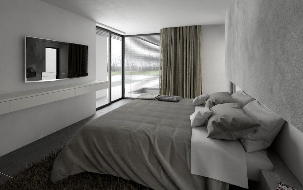 Spálňa- neutrálna a moderná