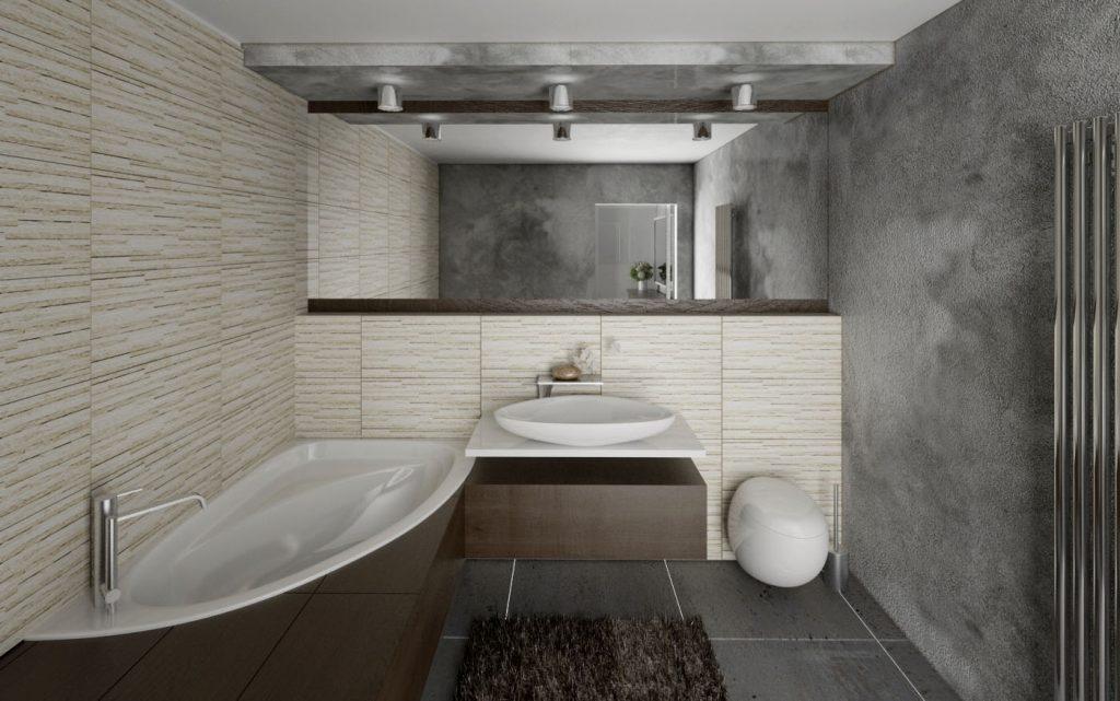 Moderná zemitá kúpeľňa