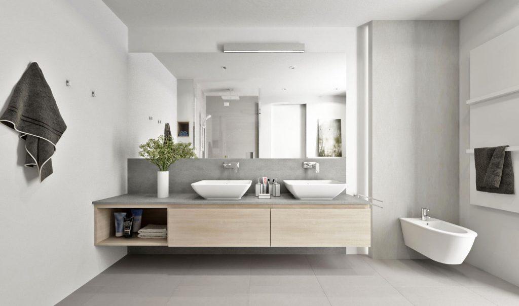 Nástenné osvetlenie zrkadla v kúpeľni