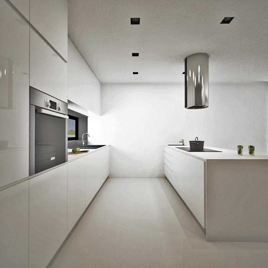 Biela jemná moderná kuchyňa