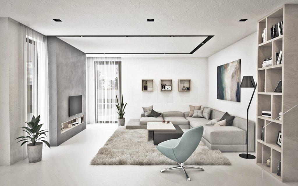 Svetlá útulná obývačka