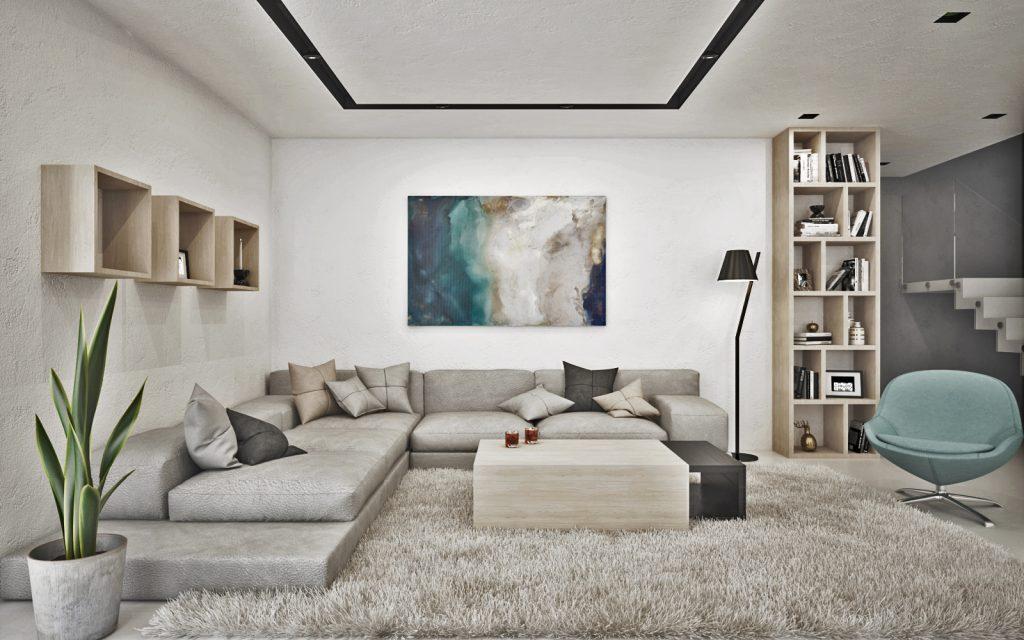 Pohodlné sedenie v modernej obývačke