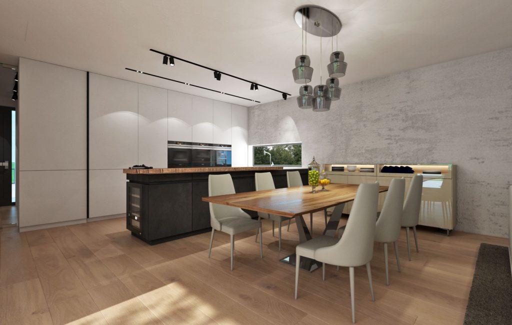 Kuchyňa s jedálňou a príručnou komodou
