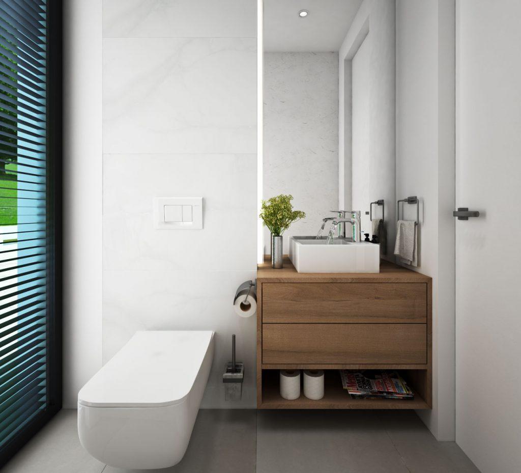 WC- druhý variant- s drevenou skrinkou