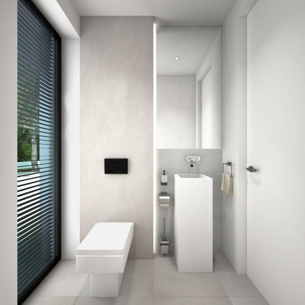 Elegantná kúpeľňa so stojacím umývadlom