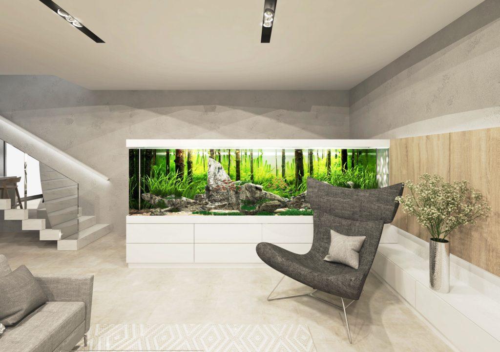 Akvárium v modernom interiéri