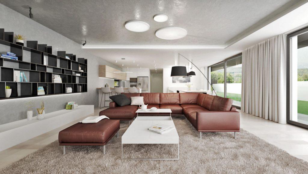 Pohodlná sedacia zostava v obývačke