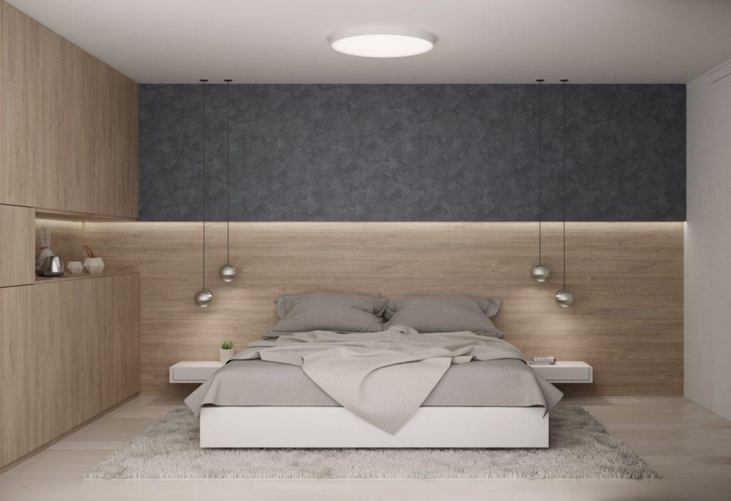 Moderná čistá spálňa