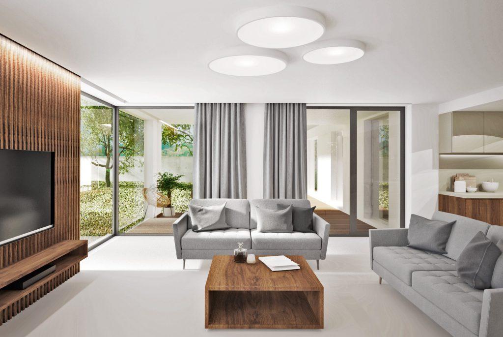 Priestranná moderná obývačka