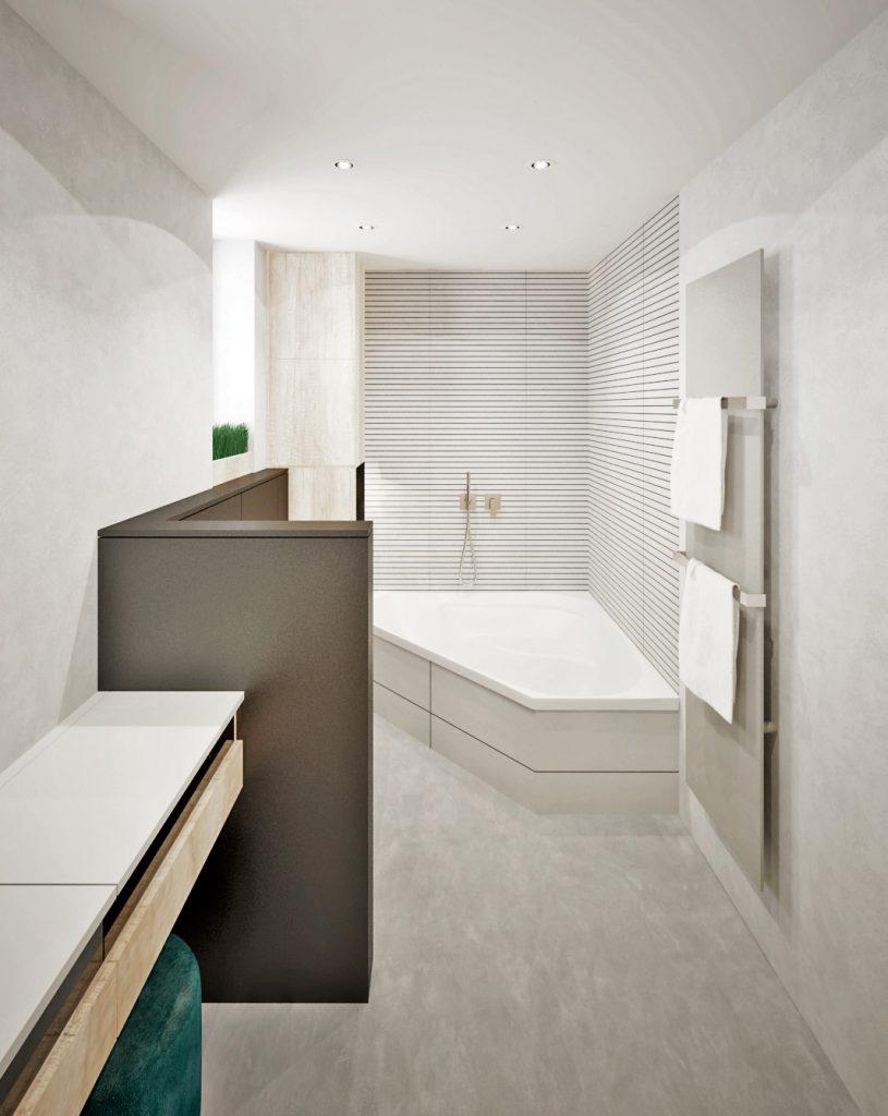 Moderná kúpelňa v príjemných tónoch