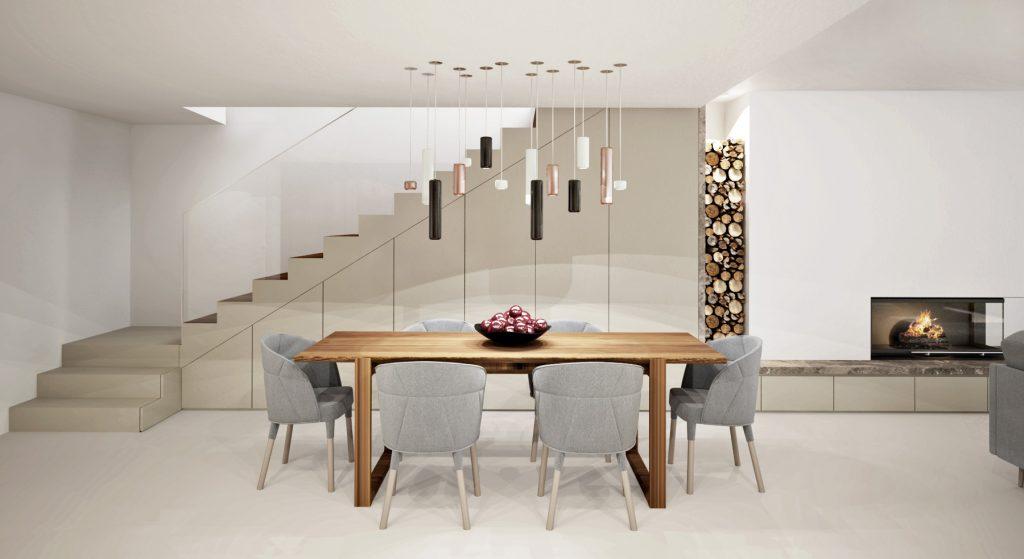 Drevený jedálenský stôl s pohodlnými stoličkami